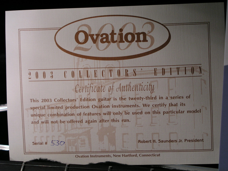 Musical Instruments & Gear Ovation Collector Series 2003 1967