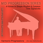 Midi Chord Progressions - 4-Voices in Simple Rhythm & Common Time Signatures Style