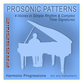 Midi Chord Progressions - 4-Voices in Simple Rhythm & Complex Time Signatures Style