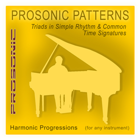 Midi Chord Progressions - Triads in Simple Rhythm & Common Time Signatures Style