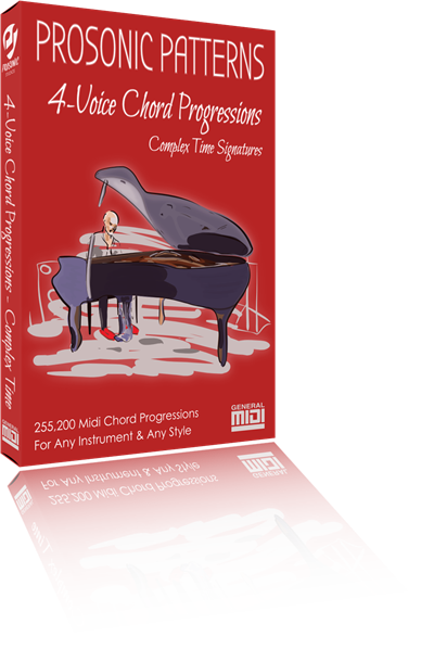 Chord Progressions: 4-Voices in Simple Rhythm & Complex Time Signatures